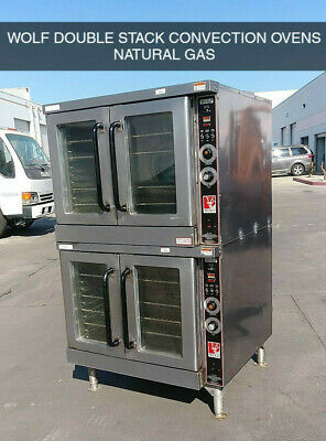 Wolf Double Stack Convection Ovens - Natural Gas