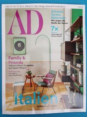 AD Nr.188 April 2018 Archit. Digest Stil Design Kunst&Architektur ungel. 1A
