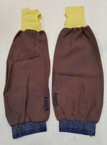 Lot of 2 Ansell Brown Blend Welding Sleeve Gloves