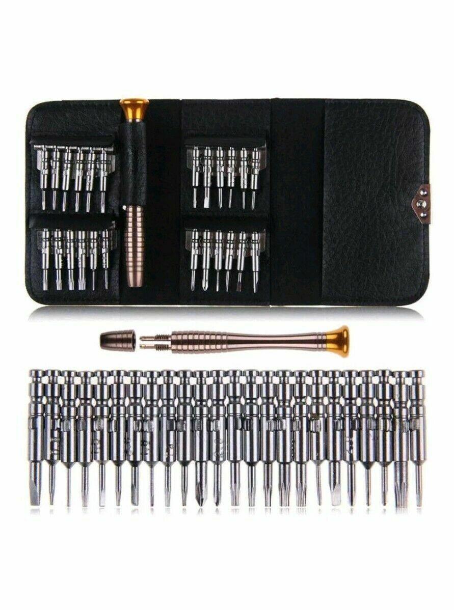 25 IN 1 Small MINI REPAIR PRECISION SCREWDRIVER TORX TOOL KIT SET PHONES FIX Hand Tools
