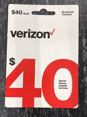 Verizon Wireless Refill Prepaid Card  Email Delivery   40