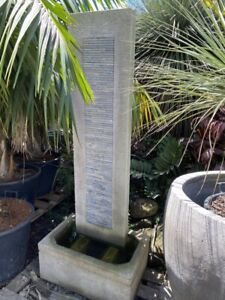 Water feature stone wall pond