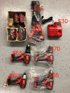Milwaukee tools drill bag battery lot for sale