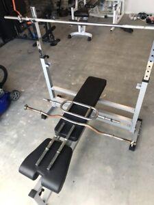 Bench press (incline/decline/flat/squats)