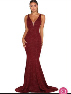 Dollhouse Xoxo Red Lace Strapless Gown Formal Gumtree Australia