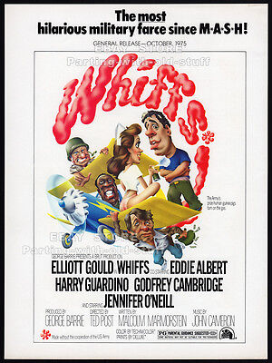 WHIFFS__Original 1975 Trade Print AD_movie promo__ELLIOTT GOULD_JENNIFER O'NEILL