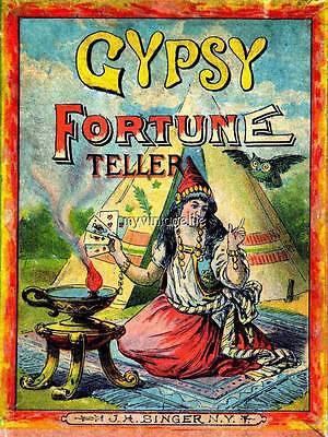 Vintage Halloween Gypsy Fortune Teller Quilting Fabric - Vintage Halloween Quilting Fabric