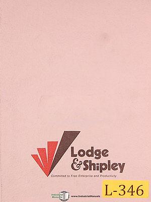 Lodge And Shipley 60 T-lathe Operations Manual