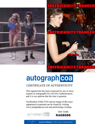 "ALISON BRIE signed Autographed ""GLOW"" 8X10 PHOTO a EXACT PROOF - Zoya ACOA COA"