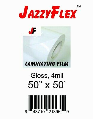 Jazzyflex - Cold Laminating Film 50 X 50 Roll 4mil Thck