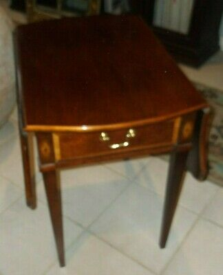 Thomasville 'The Mahogany Collection' Pembroke One Drawer End (Collection Oval End Table)