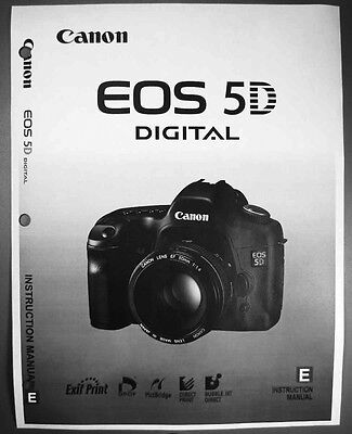 Canon EOS 5D Digital Camera User Instruction Guide  Manual