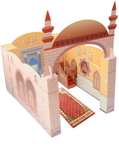 Playhouse Masjid Mosque Muslim Kids Toy Learn Islam Quran Praying Mat Salah Rug