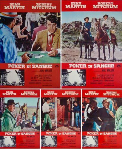 5 CARD STUD Italian fotobusta movie posters x10 DEAN MARTIN  ROBERT MITCHUM 1968