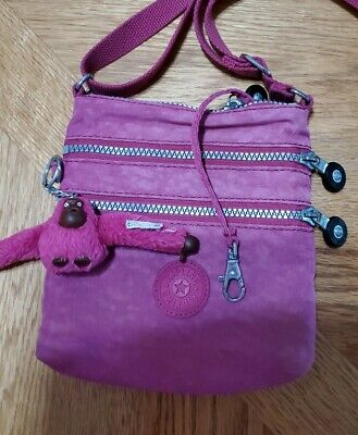 Kipling Small Crossbody Bag And It Has The Monkey  In Pink