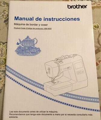 Used, Brother SE600 Embroidery machine Manual de instructions. Brand New, Original for sale  Shipping to South Africa