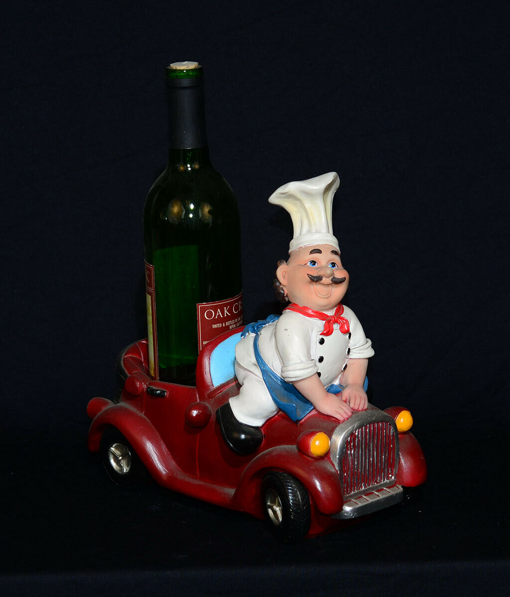 11 inch Chef Car Classic Wine Holder Kitchen Bar Father Day