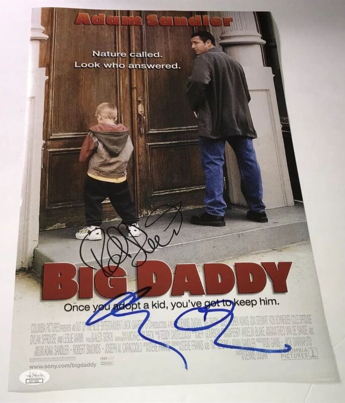 Adam Sandler & ROB SCHNEIDER Signed BIG DADDY 11x17 Photo Autograph JSA COA