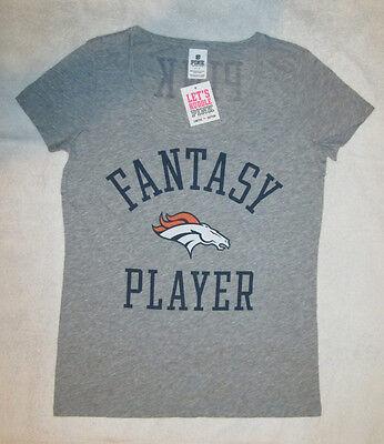 - Victorias Secret PINK Denver Broncos Scoopneck Tshirt Small NWT