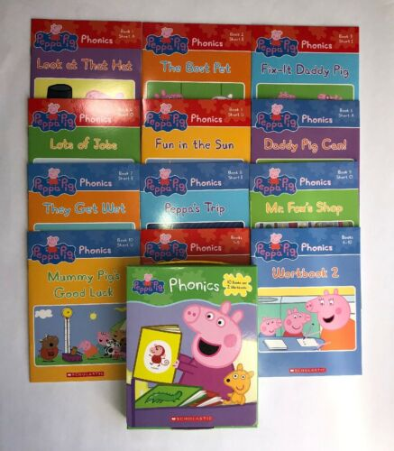Peppa Pig Childrens Books Phonics Learn to Read Gift Set Lot
