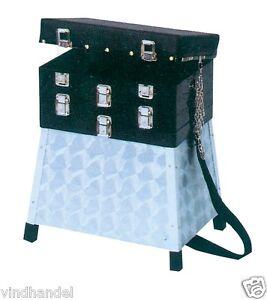 Behr Alu Sitzkiepe Sitzbox Angelbox  Angelkoffer Gerätebox 32x22x43cm 4975030--
