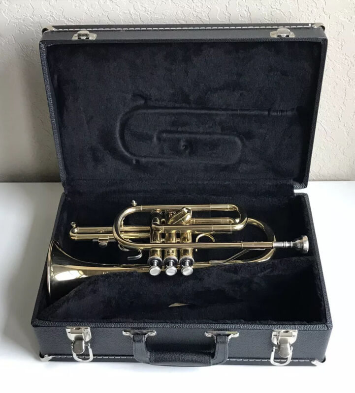 Blessing BCRXL Cornet, Lacquered Brass