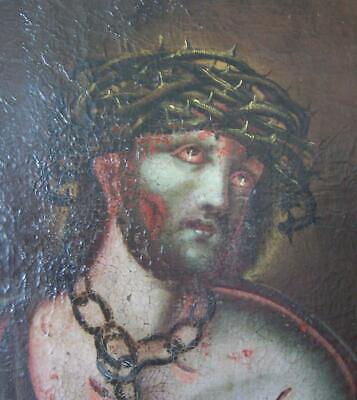 Ecce Homo. Ölbild von Christus mit der Dornenkrone - Krone Von Dornen