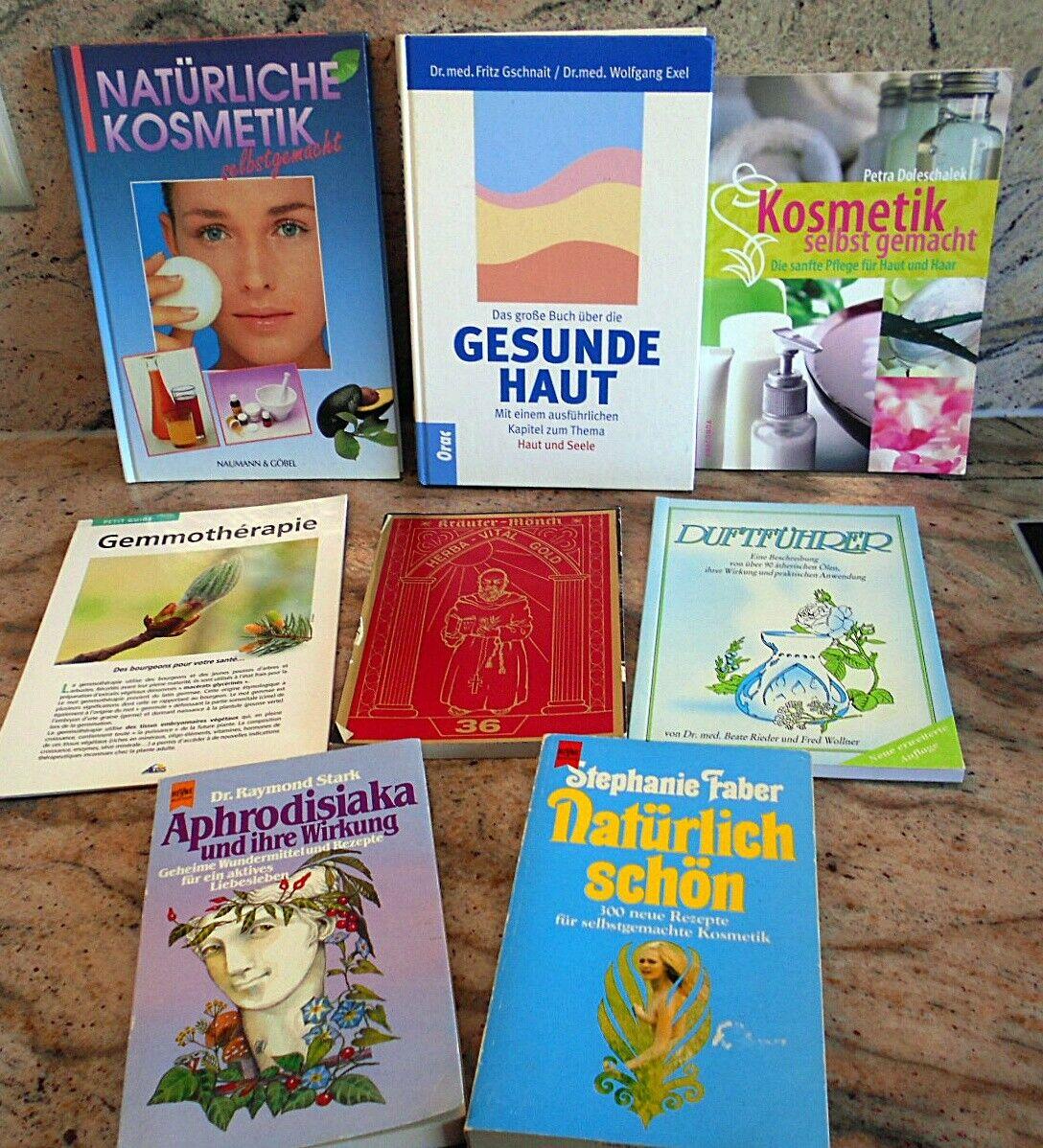Bücherpaket Kräuter Gemmotherap natürliche Kosmetik selber machen, Aphrodisiaka