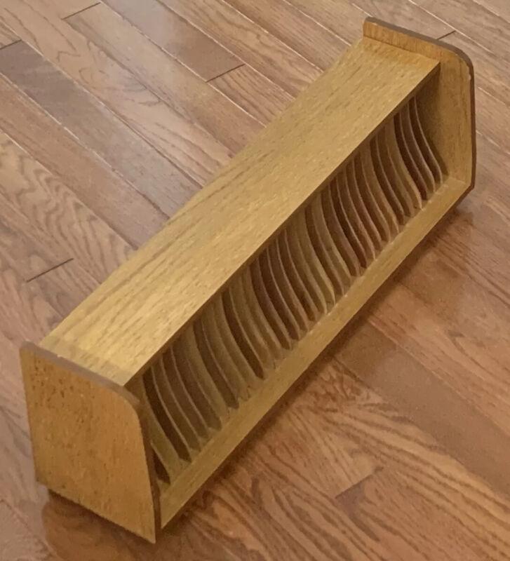 VTG Wooden CD Holder 36 Slot Storage Organizer Wood Box Media Shelf Rack NICE!