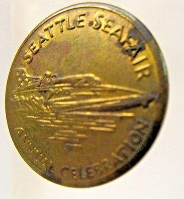 1960s MISS EXIDE SEATTLE SEAFAIR University Parking token Hydroplane Boat racing