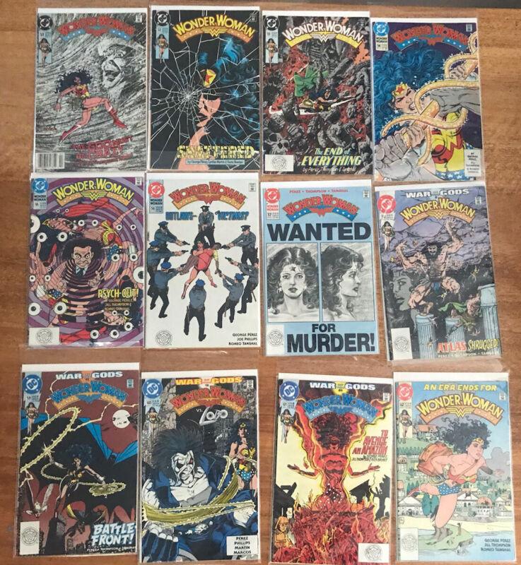 12x Wonder Woman Volume 2 DC Comics Lot bundle #51-#62 1987-1989 Fine*