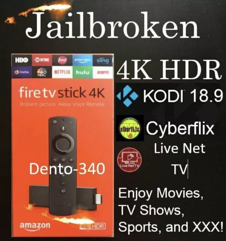 🔥Fully Loaded 🔥NEW Fire Stick 4K HDR TV - J🔥ILBR🔥KEN Unlocked