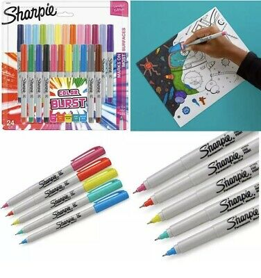 Sharpie Color Burst Permanent Markers Ultra Fine Point Limited Edition 24 Ct