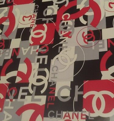 """Chanel Gift Wrap Paper 18"""" Wide, Sold By The Yard , New Condition"""