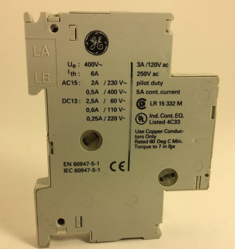 General Electric  SF1AL Auxillary Contact GE