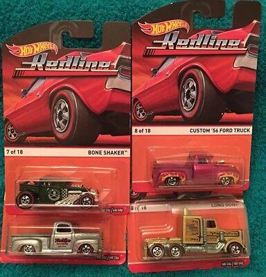 2015 Hot Wheels Red Line  Long Gone 49 Ford F1 Bone Shaker Custom 56 Ford Truck, usado comprar usado  Enviando para Brazil