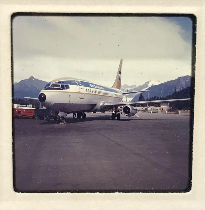 2 VTG Wien Consolidated Alaska Airlines 35mm Photograph Slides Aircraft Kotzebue