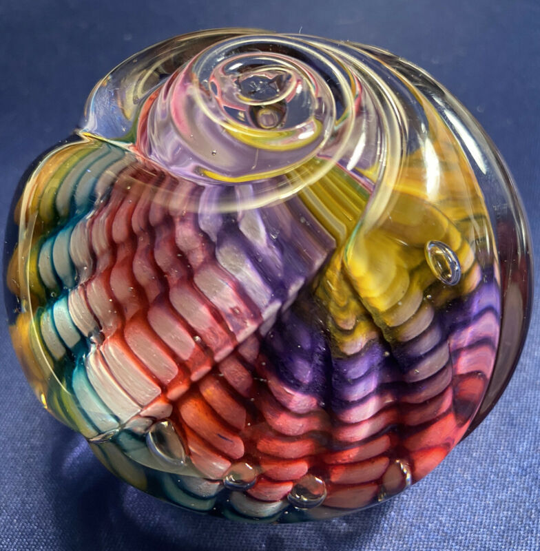 Stunning Handmade Paperweight by German Artists at Freeform Studios (Signed)