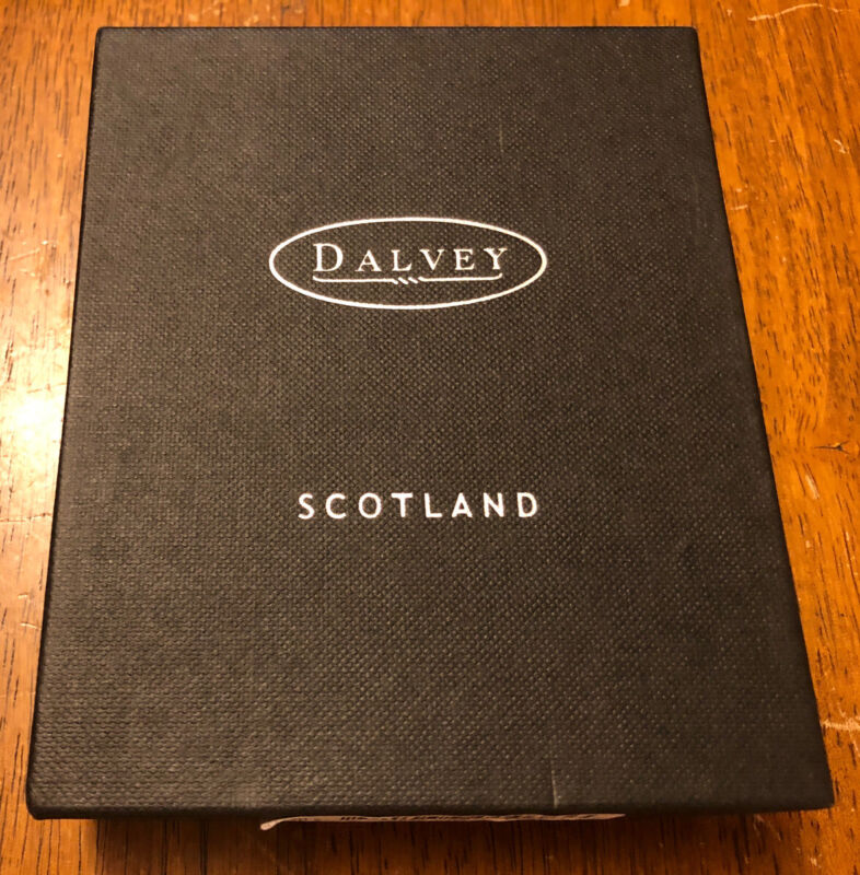 Dalvey Classic Oakleaf Stainless Steel Chrome Compass With Box Scotland Gift