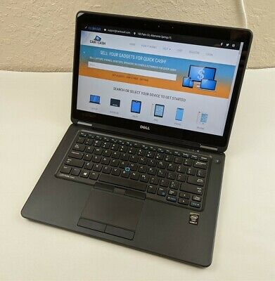 "READ Dell Latitude E7450 i7-5600U 2.60GHz 16GB RAM 256GB SSD 14"" FHD Touch W10P"