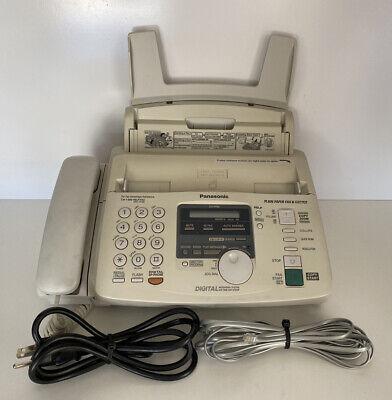 Vintage Panasonic Plain Paper Fax Machine And Copier Kx-fp85 Tested