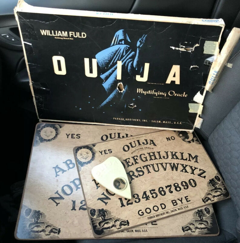 VTG Parker Brothers Ouija Board Game 1950s William Fuld Mystifying Oracle - 2!!!