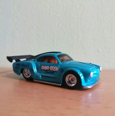 Hot Wheels Track Day - VW Volkswagen Karmann Ghia - Real Riders - Loose