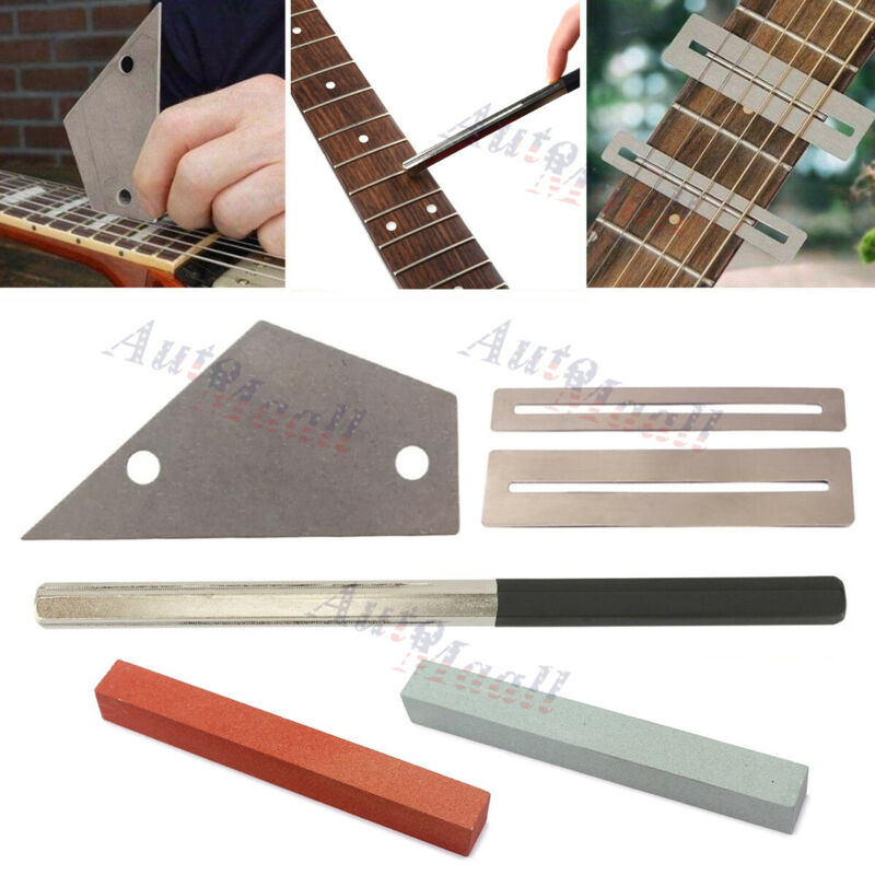 Guitar Luthier Tool Kit Dressing File Fret Crowning Rocker Fingerboard Grinding