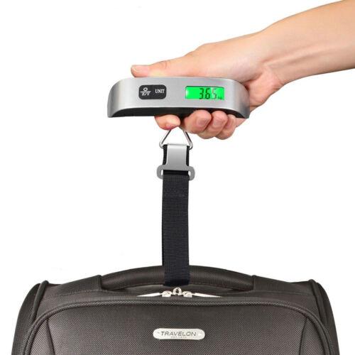 Portable Digital Luggage Scale LCD Display Travel Hook Hangi