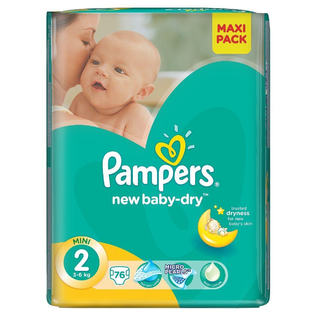 _PAMPERS New Baby Dry Gr.2 MINI 3-6 kg Windeln  43/132/264/396/500/688 Stücke
