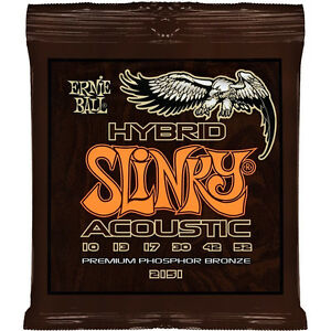 Ernie Ball 2151 Hybrid Slinky Phosphor Bronze Acoustic Guitar Strings 10-52