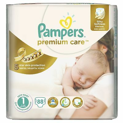 _PAMPERS Premium Care New Born Gr.1 2-5 kg 88 Windeln Starter Paket Super Schutz
