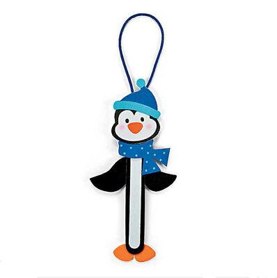 Penguin Craft Kit - Penguin Ornament Winter Christmas Wooden Craft Stick Kit for Kids ABCraft
