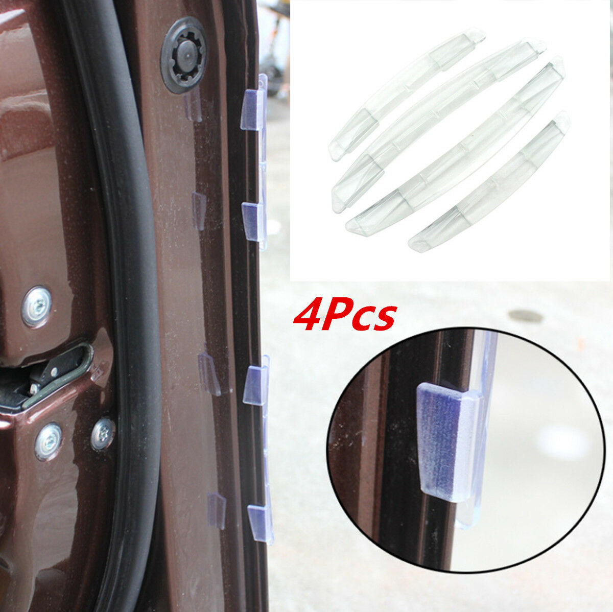 4X Clear Car Accessories Door Edge Guard Strip Scratch Protector Anti-collision